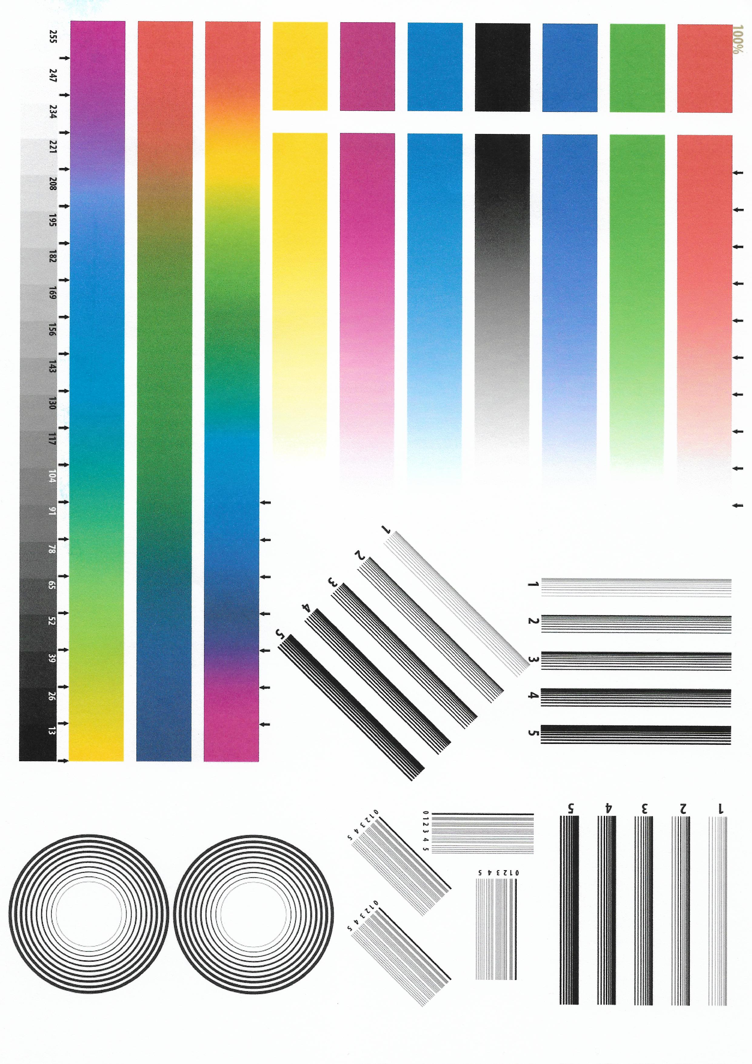 Тест картинки для струйного принтера