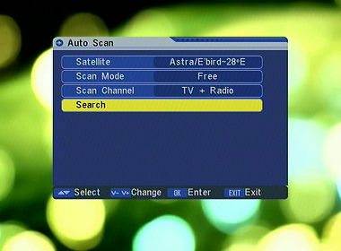 Auto-scan for channels.