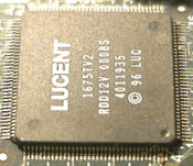 The main IC in the modem circuitry.