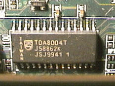 The Smard card interface IC.
