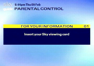 You need a viewing card to set up parental controls.