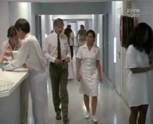 A generic hospital corridor, only here the nurses look like real nurses!